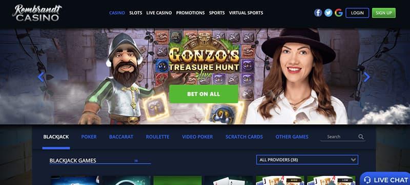 rembrandt casino logo screenshot